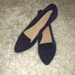 LC Lauren Conrad blue suede women's loafers